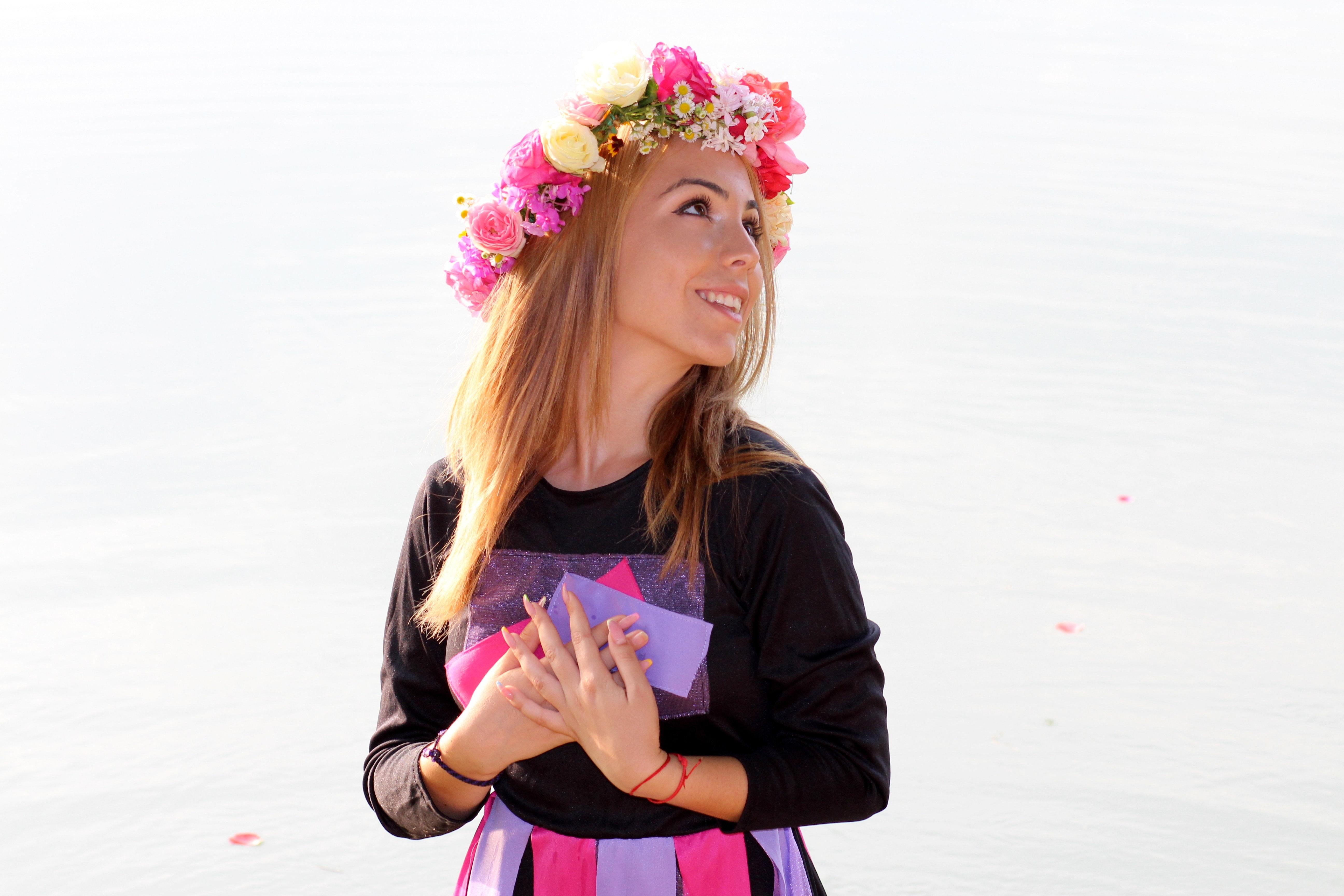 Blond Blumenmädchen